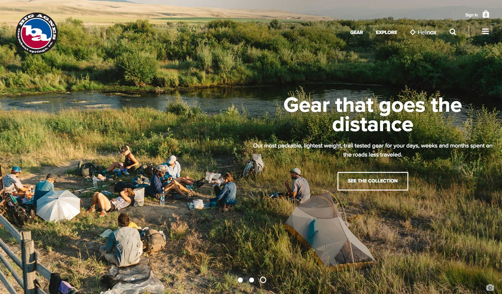 Big Agnes Website