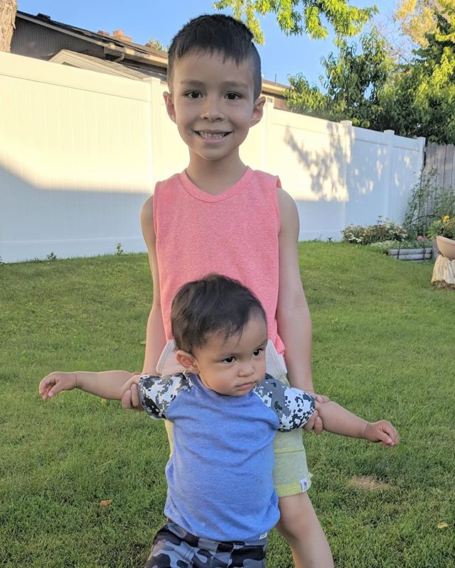 Big brother tasks ❤️ we love these two 🌴, they love to stay comfy in #paradisekidsclothing outfits 🌴
