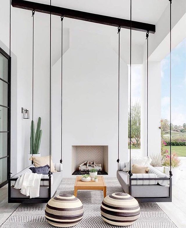 It's 5:00pm and the sun finally came out here in Southern California today. I'll be hanging out here in this freaking fantastic porch wishing for June Gloom to be done. 🙌🏻 Design by @studiolifestyle_ styling by @bradytolbert . . . . . #OCInteriorDesigner #OrangeCountyHomes #OCHomes #Interior123 #CurrentSituation  #interior125 #interior444 #interior4you #interior4all #interiorinspo #interiorinspiration #interior2you #homedesign #interiorforinspo #dream_interiors #designinterior #interiordecorating #interiorstyle  #interior4you1 #charminghomes #interior_and_living #interiorinspo #interiorstyling #outdoorliving #outdoorlivingspace #swingingbench #hangingbench