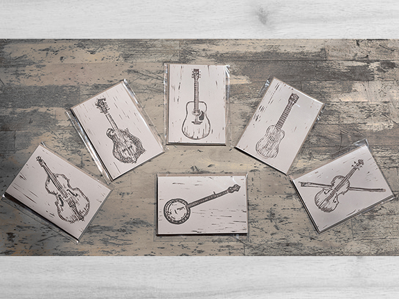 Instrumental Greeting cards -