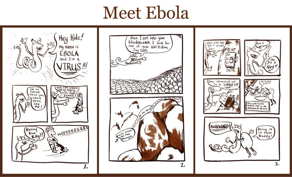 """Ebola Comic from """"Offhand Comics""""  © 2013  Matt Baker"""