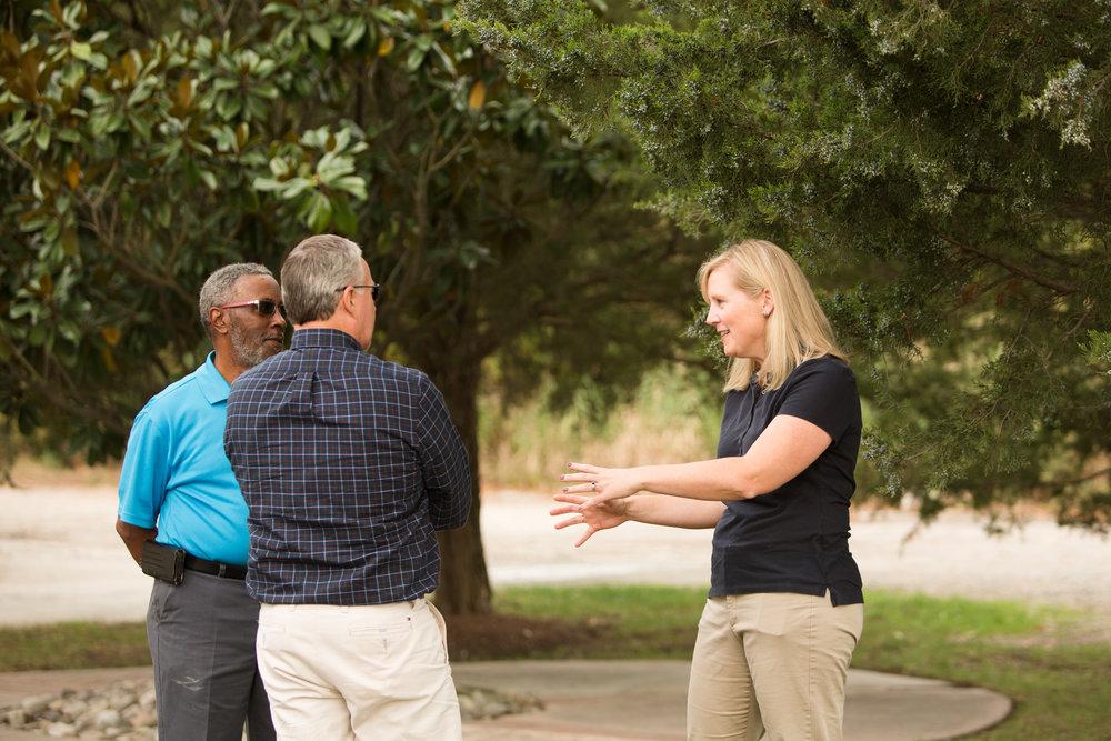 Sarah talking to Jim Kenny.jpg