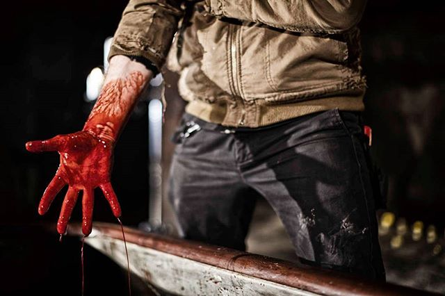 Our head of SFX @dougsakmann getting his hands dirty on set.  #exsanguinata #exsanguinatafilm #sfx #specialeffects #blood #bloodmagic #bathory #countessbathory #backseatconceptions #gretchenheinel #sabbathassembly #horrorfilm #horror #horrorshort