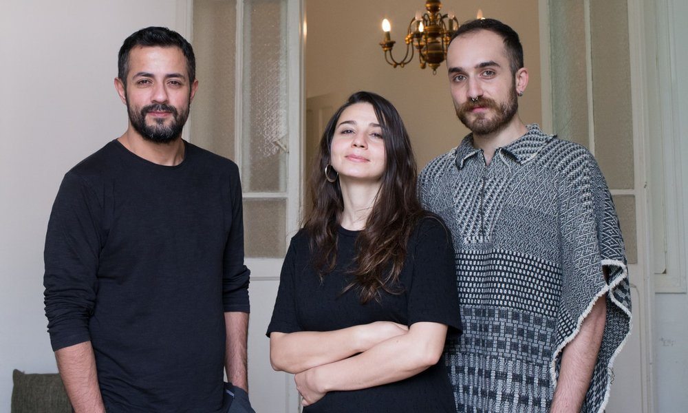 Helem's three paid staff (from left): Joseph Aoun, Genwa Samhat and Wael Hussein. Helem has been described as an 'important and necessary LGBTQ oasis in the Middle East and North Africa region'. Photograph: Adib Chowdhury