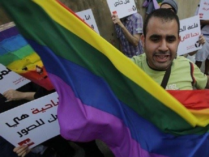 A gay rallyist in Lebanon in 2013. (Times of News image)
