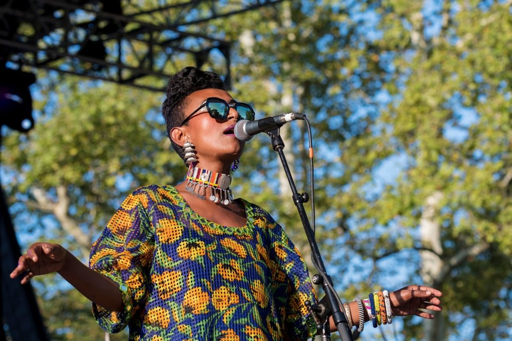 Alsarah and the Nubatones performed earlier in the week, as part of the festivities. Pictured: Alsarah performing in 2017. (Source: Archive Photos)
