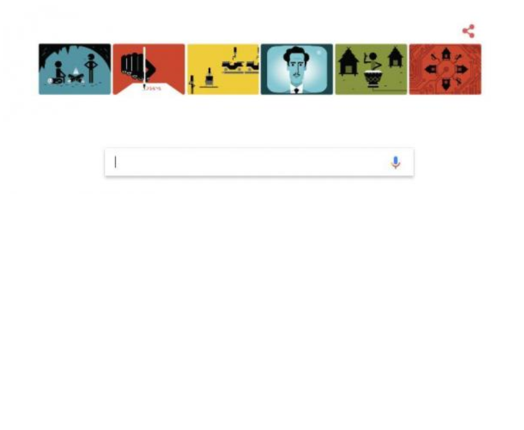 Google's front page on 7/22/2017.