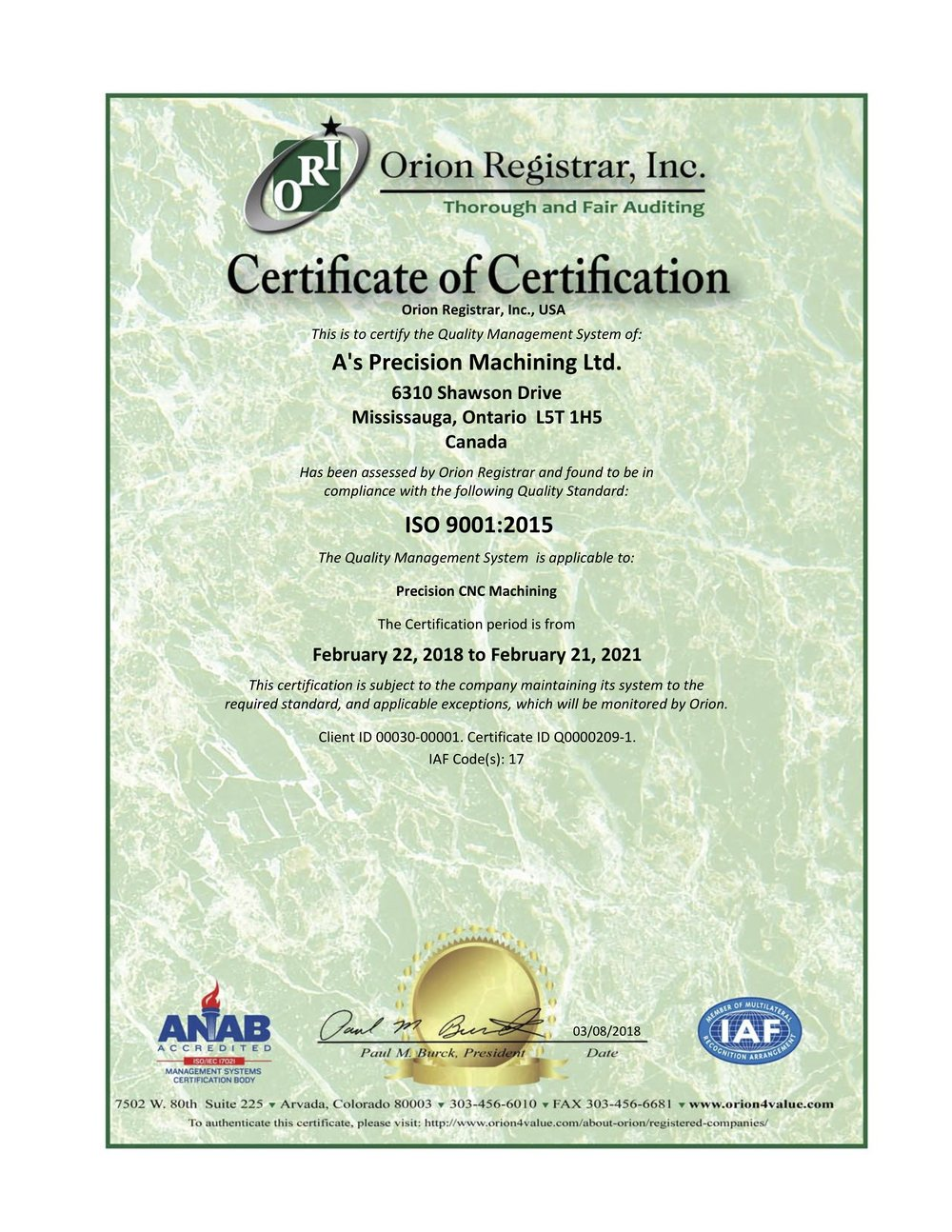 A's PrecisionCertificate ISO 9001.jpg
