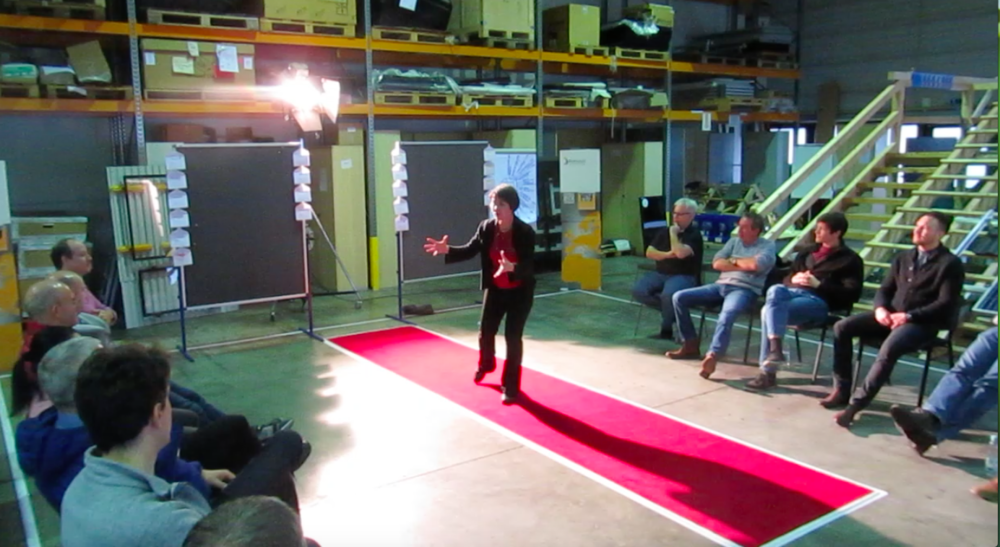 Body language for Sales People; transforming a warehouse into a stage.