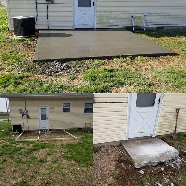 remove & pour patio