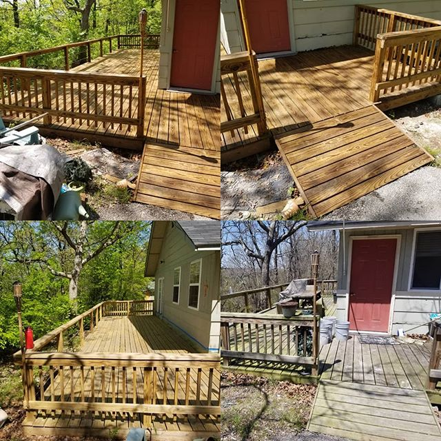 50A - Quadraplex - pressurewash & stain deck (back)