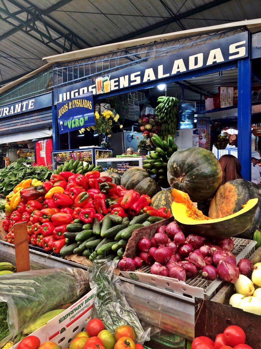 Fresh Produce Market, Bogota, Colombia