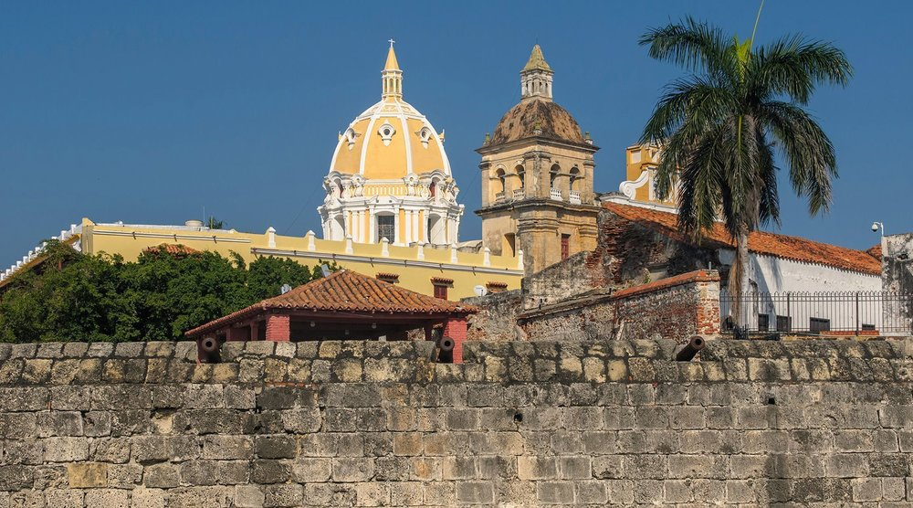 View of the Old Town of Cartagena, Colombia