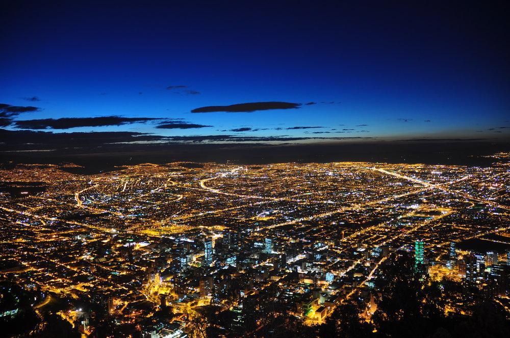 Cityscape of Bogota, Colombia
