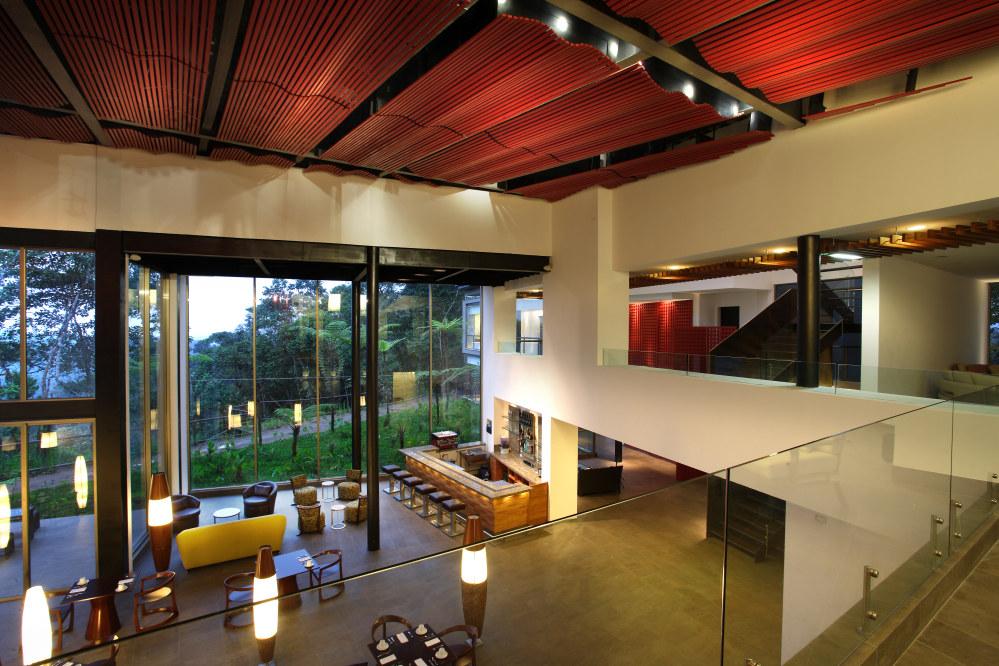 Mashpi Lodge Lounge, Cloud Forest, Ecuador