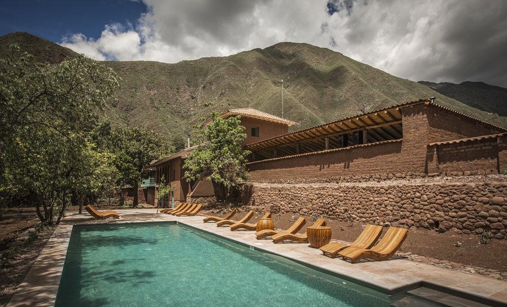 Pool at explora Sacred Valley, Peru