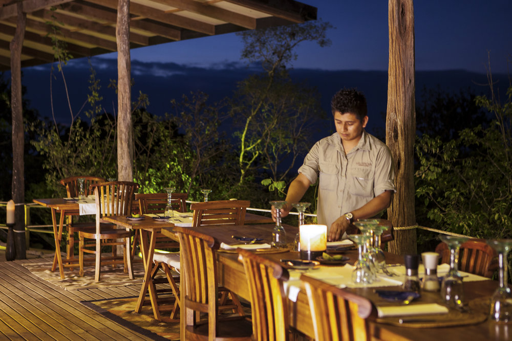 Dining at Galapagos Safari Camp
