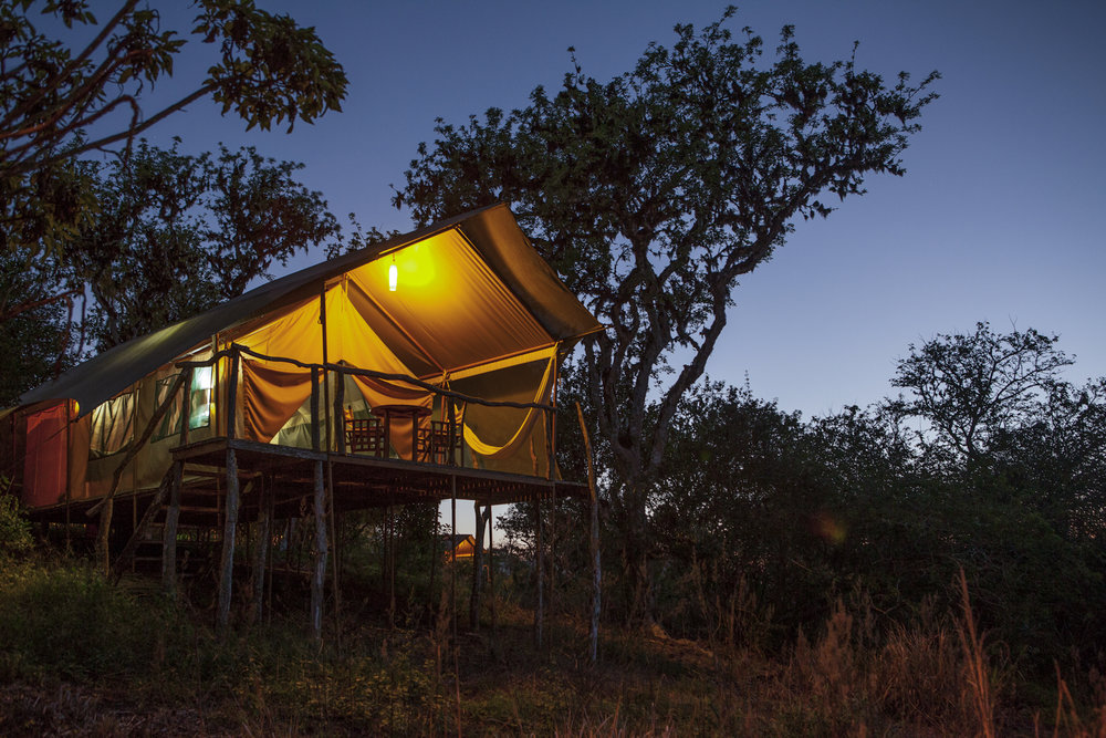 Galapagos Safari Camp at Night