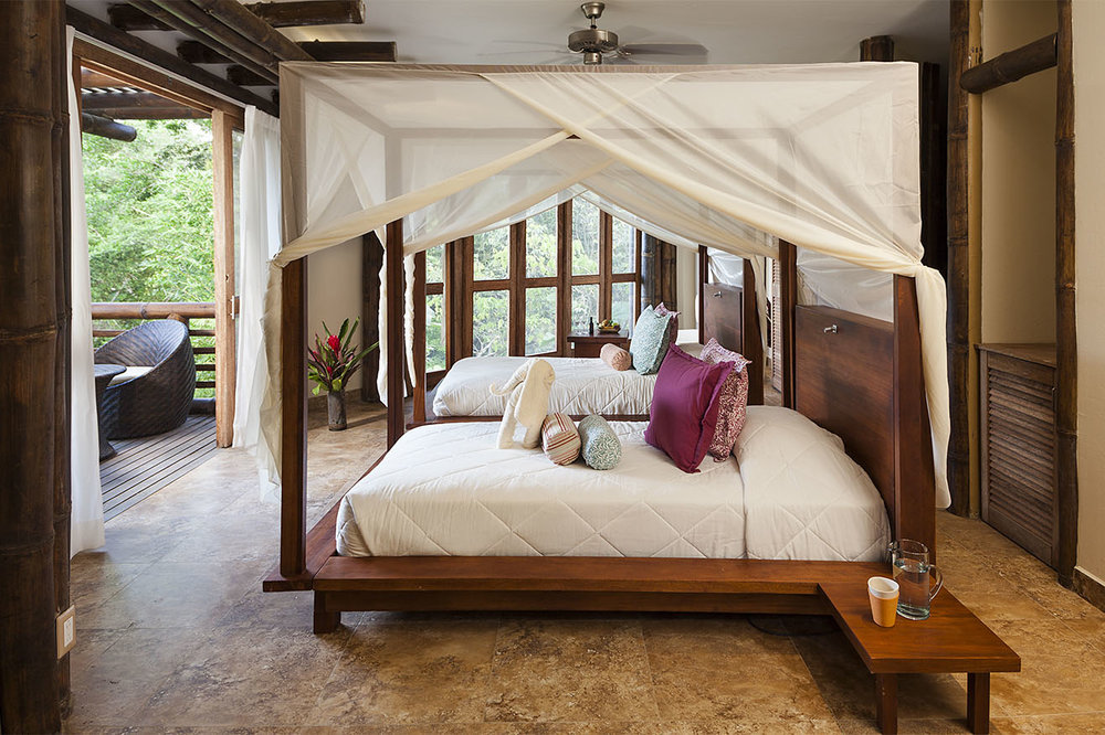 Room at La Selva Lodge in the Amazon