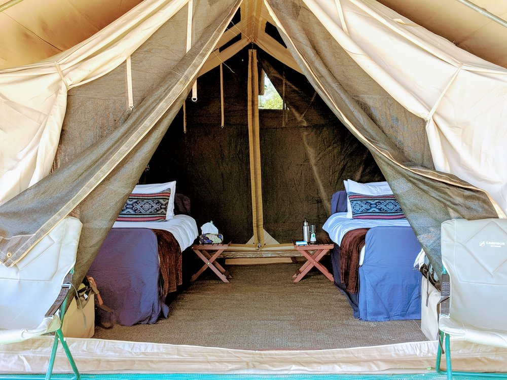 Mobile tents at Somalisa Expeditions...your view is straight onto the Zambezi River, and Zambia across the way.