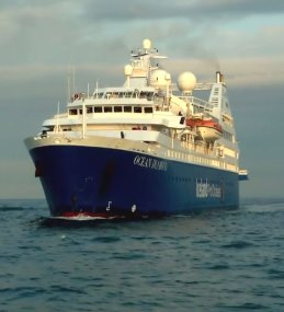 The Ocean Diamond circumnavigating to Iceland