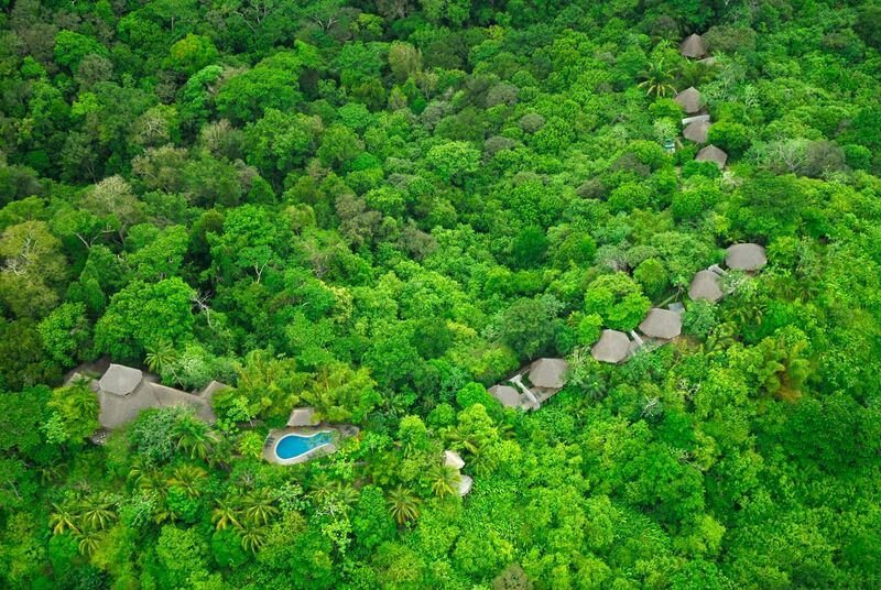 Aerial view of Lapa Rios Lodge