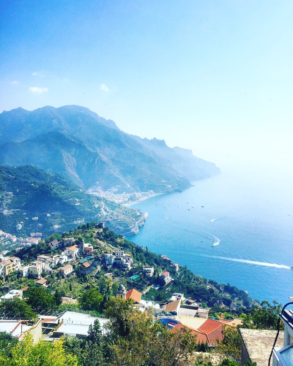 View of Amalfi Coast from Ravello, Italy