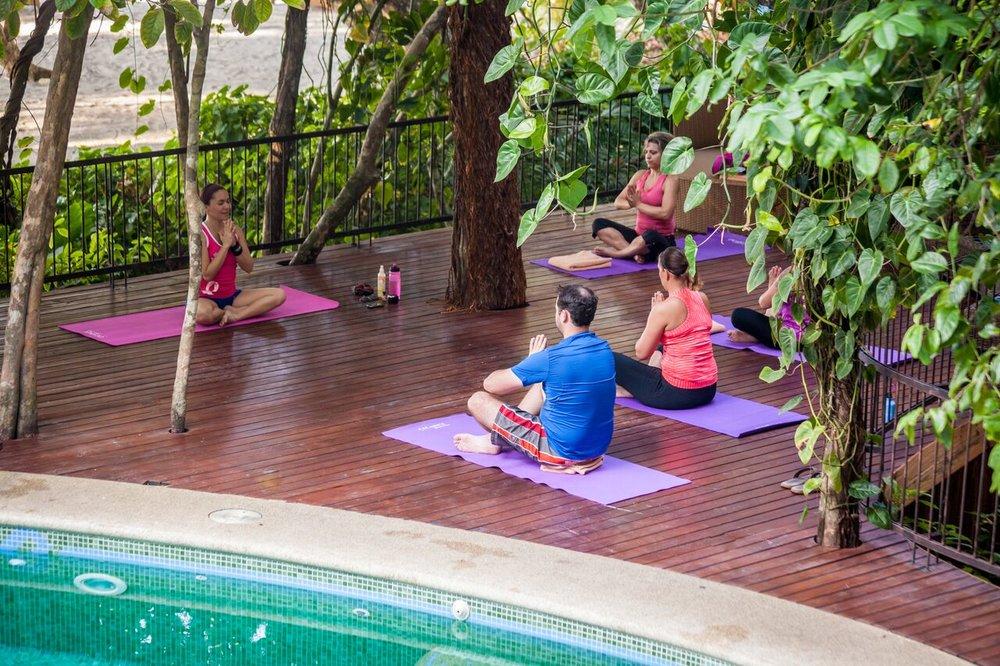 Daily yoga at Arenas del Mar