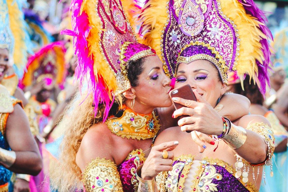 Dancers at Carnival in Rio de Janeiro, Brazil