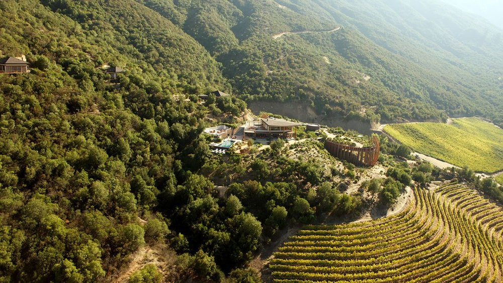 Stunning vineyards and hotel at Clos Lapostolle - Colchagua Valley, Chile