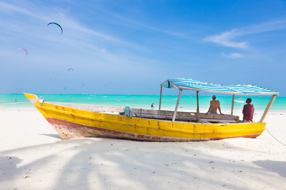 Tropical sandy beach on Zanzibar
