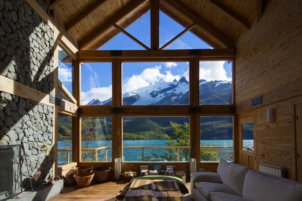 View from Aguas Arriba Lodge in El Chalten, Argentina
