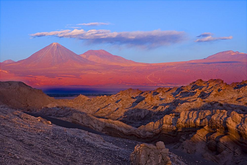 Landscape of the Atacama Desert, Chile