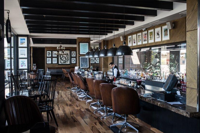 Bar at Singular Lastarria, Santiago, Chile