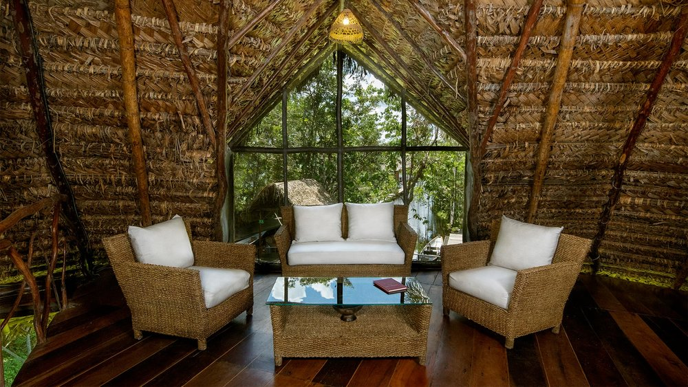 Sitting Room at Sacha Lodge, Amazon, Ecuador