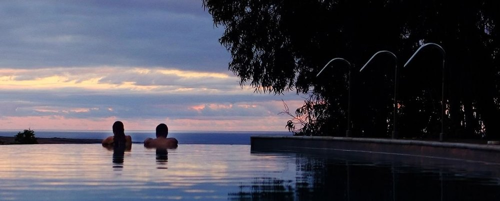 Infinity Pool overlooking Easter Island, Explora Rapa Nui, Chile