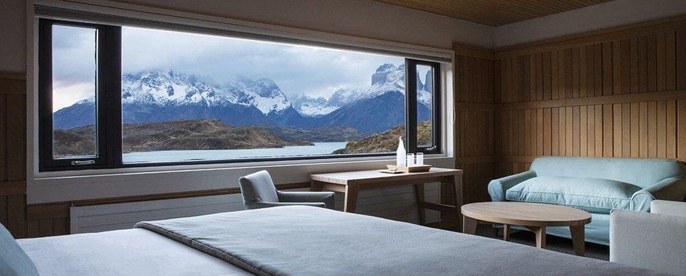 Room at explora Patagonia, Torres del Paine, Chile