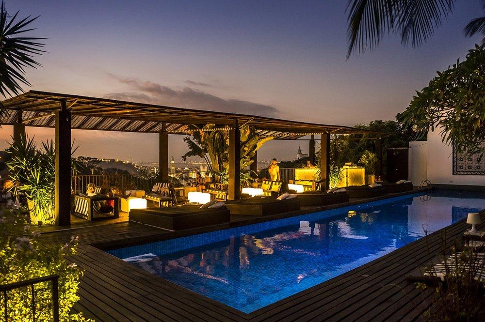 Rooftop Pool at Hotel Santa Teresa, Rio de Janeiro, Brazil
