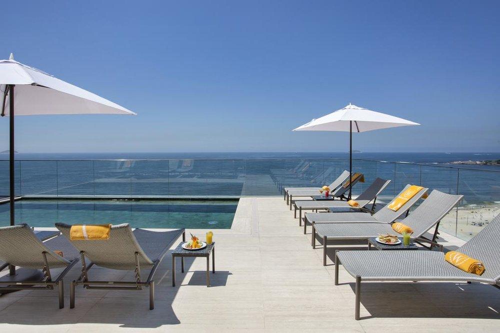 Rooftop Pool at Windsor California, Rio de Janeiro, Brazil