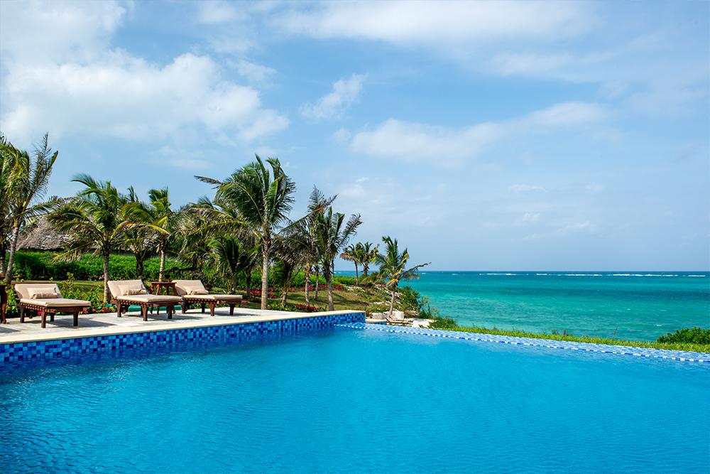Infinity pool at Zawadi Hotel in Zanzibar
