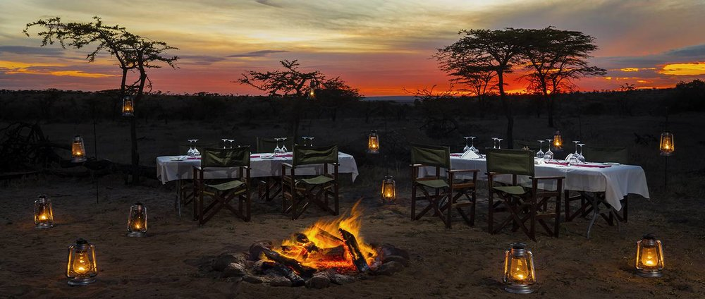Bush Dinner at Mahali Mzuri in Maasai Mara, Kenya