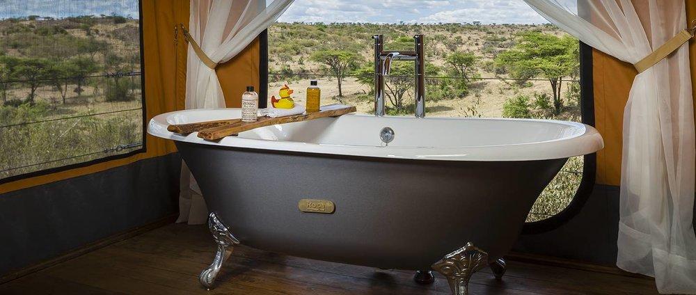 Bathroom at Mahali Mzuri in Maasai Mara, Kenya