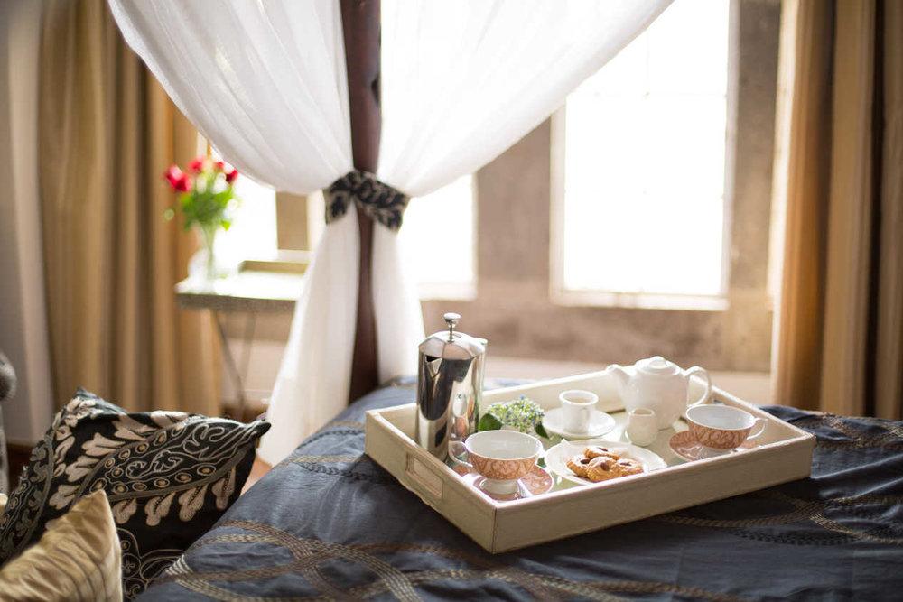 Tea in Bed at Giraffe Manor, Nairobi, Kenya