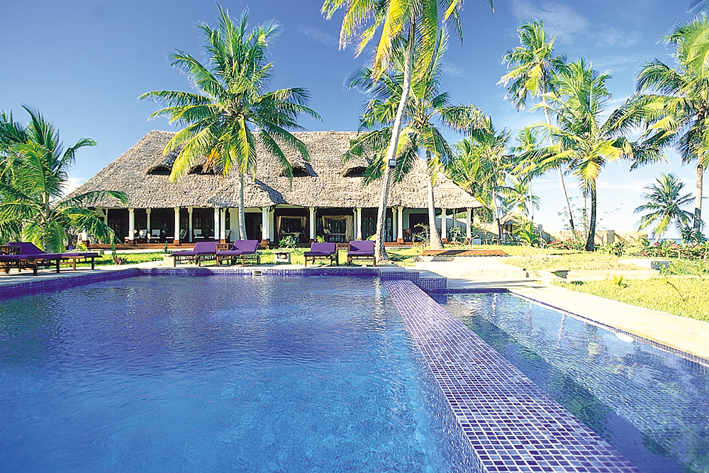 The pool at The Palms Hotel in Zanzibar