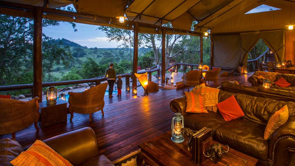 Lounge at Serengeti Migration Camp, Tanzania