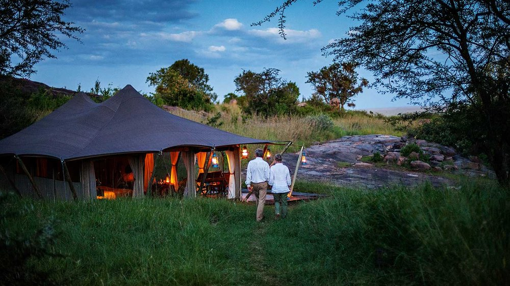 Tent at the Serengeti Pioneer Camp, Tanzania
