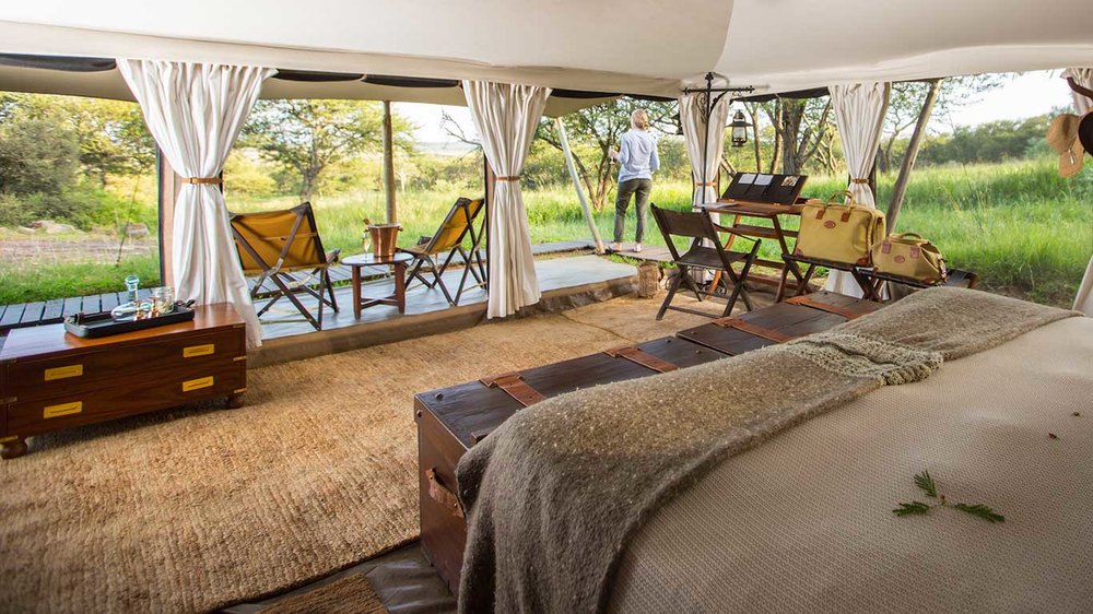 Accommodations at the Serengeti Pioneer Camp, Tanzania