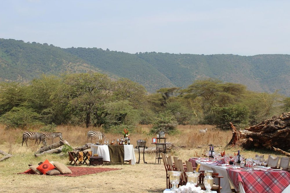 Dining in the bush with The Manor at Ngorongoro, Tanzania