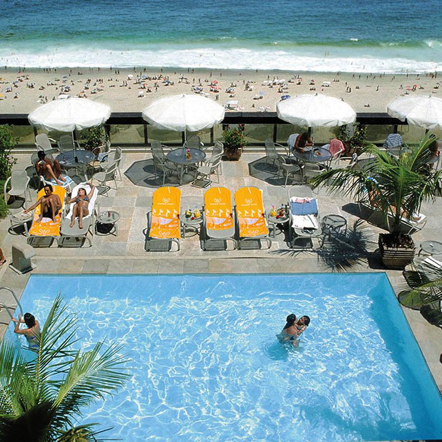 Rooftop Pool at Windsor Excelsior overlooking Copacabana Beach, Rio de Janeiro