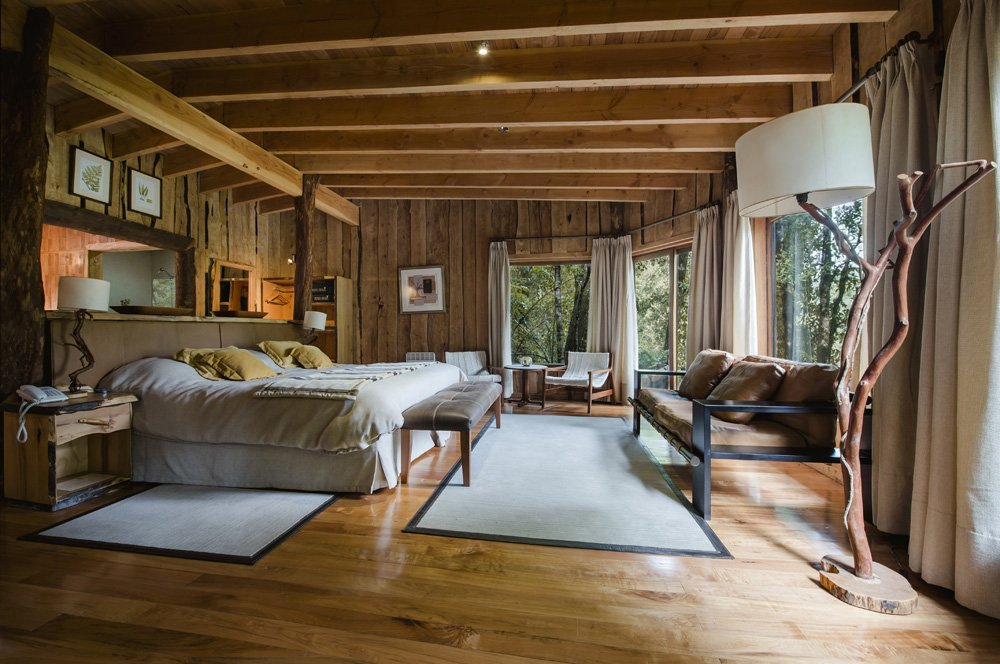 Accommodations at Nothofagus Hotel & Spa at Huilo Huilo Biological Reserve